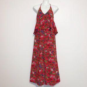 ZARA BASIC Collection Floral Print Jumpsuit